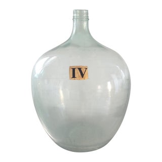 Vintage Demijohn Wine Bottle For Sale