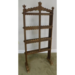 French Country Antique Oak Standing Spice Rack Preview
