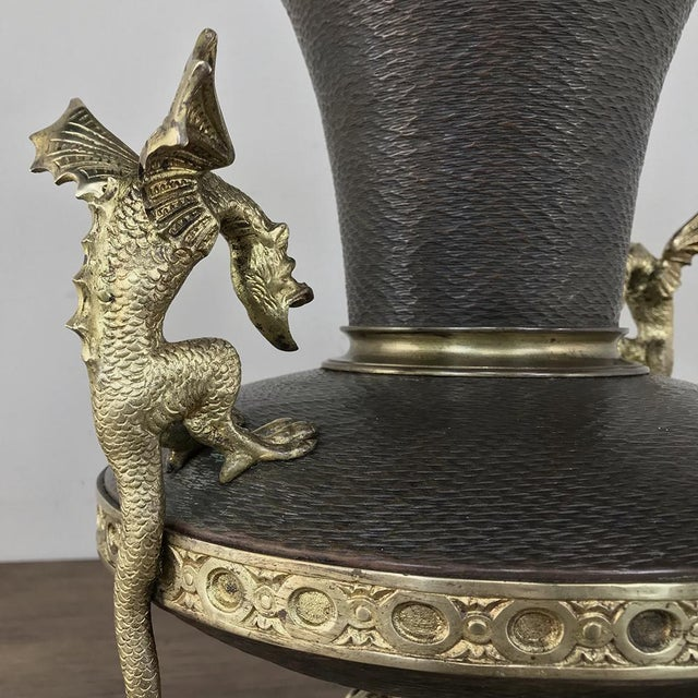 Mid 19th Century 19th Century Napoleon III Period Bronze and Copper Centerpiece For Sale - Image 5 of 13