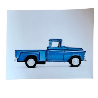 Photograph of Vintage Blue Truck For Sale