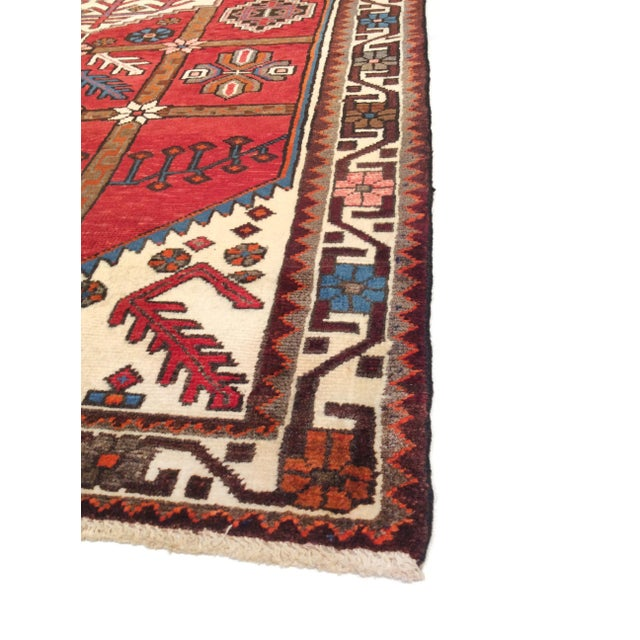 """Pasargad Vintage Balouch Area Rug- 3'11"""" X 5' 4"""" - Image 3 of 4"""