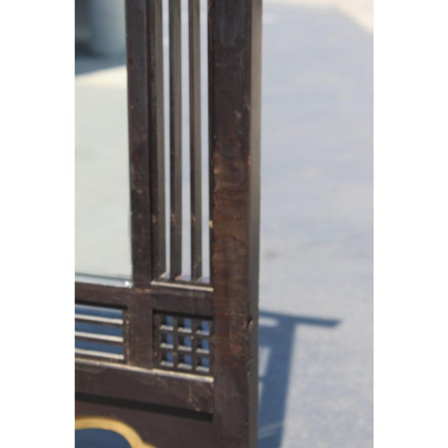 Metal Japanese Meiji Period Mirrored Screen For Sale - Image 7 of 12