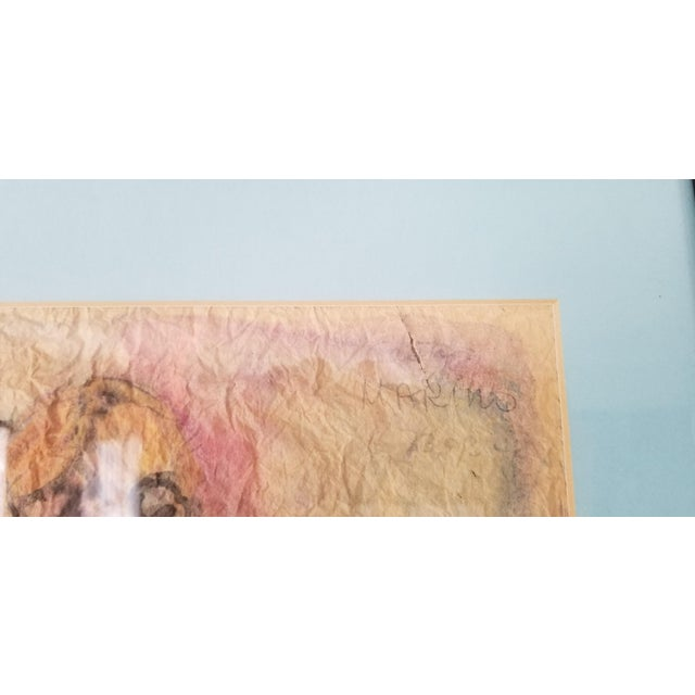 Pink 1990 Ghort Marino Abstract Nude Female Painting For Sale - Image 8 of 11