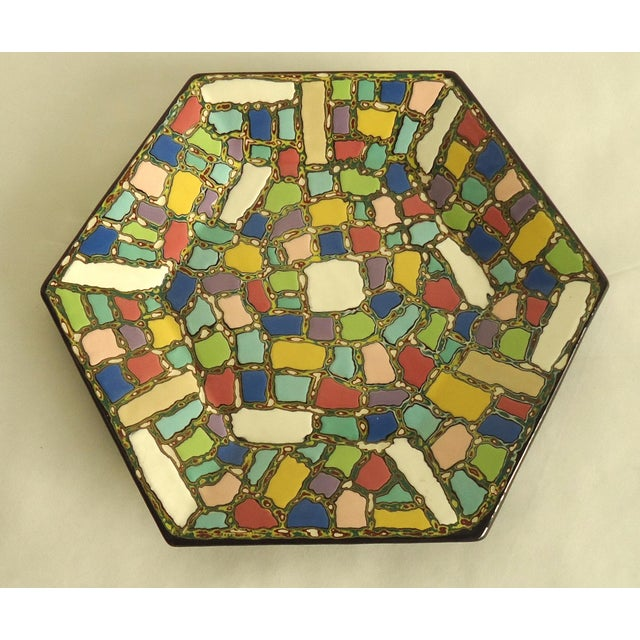 Faux Mosaic Pattern Studio Ceramic Catchall Tray - Image 2 of 5