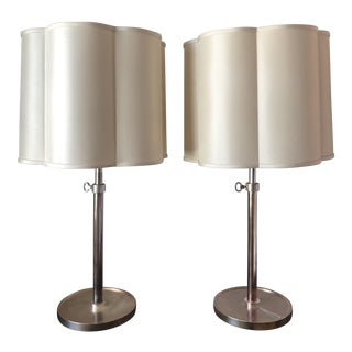 Visual Comfort Adjustable Table Lamps by Barbara Barry - a Pair For Sale