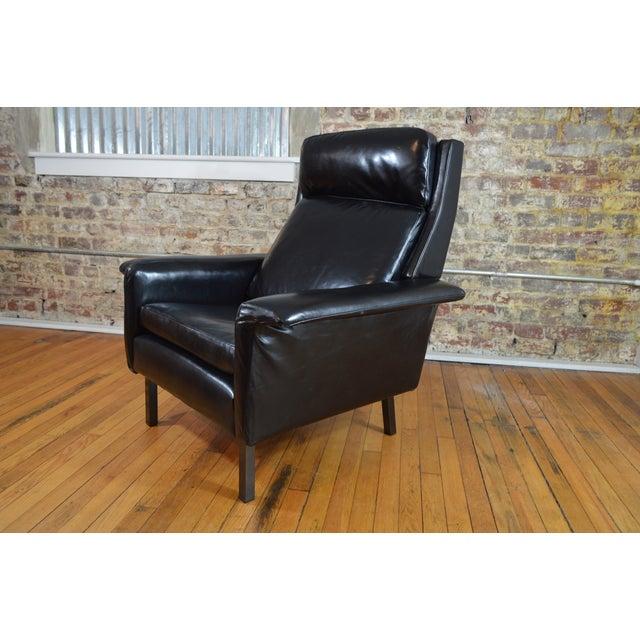 Arne Vodder for Fritz Hansen Danish Modern Leather Easy Chair For Sale - Image 6 of 7