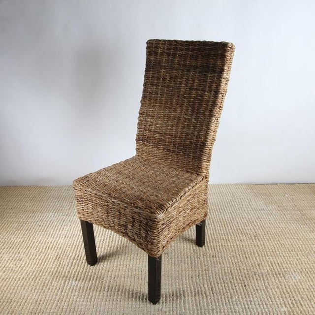 Rattan Dining Chairs - Pair - Image 8 of 8