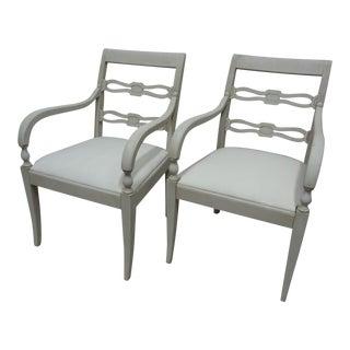 Swedish Gustavian Arm Chairs For Sale