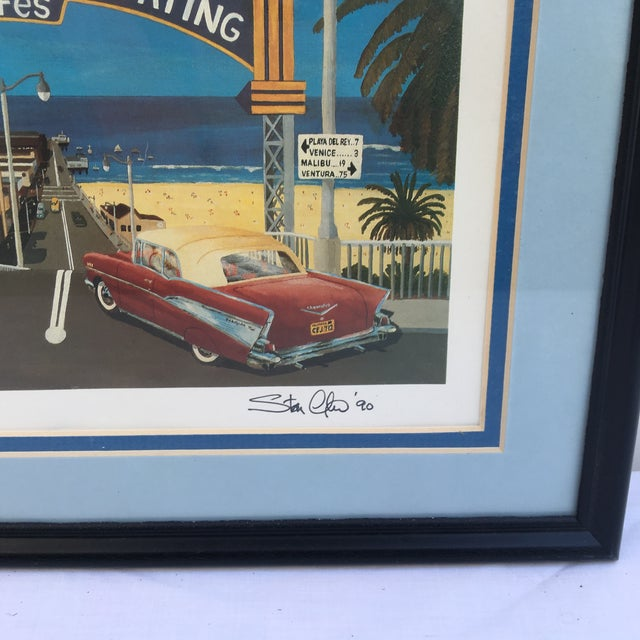 Mid-Century Modern Santa Monica Pier Lithograph by Stan Cline For Sale - Image 3 of 4