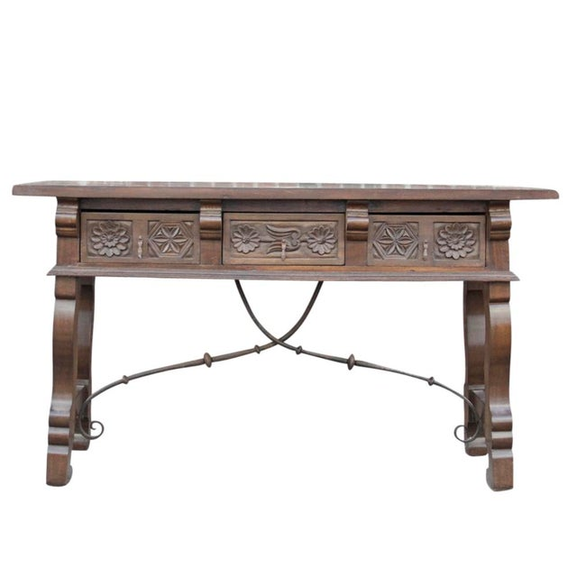 Spanish Colonial Style Console Table - Image 1 of 6