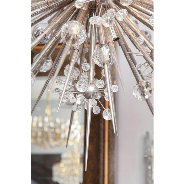 Mid-Century Modern Custom Austrian Crystal Spiked Sputnik For Sale - Image 3 of 10