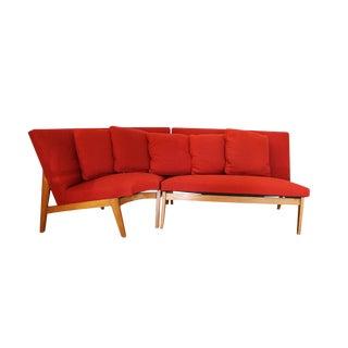 Mid Century Scandinavian Sectional Corner Sofa For Sale