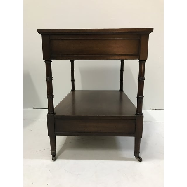 Hekman Walnut Side Tables - Pair For Sale - Image 11 of 13