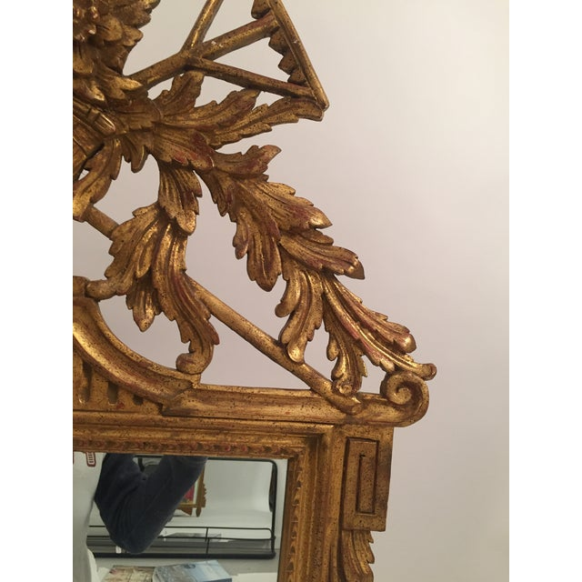 Neoclassical Gold Leaf Mirror - Image 9 of 11