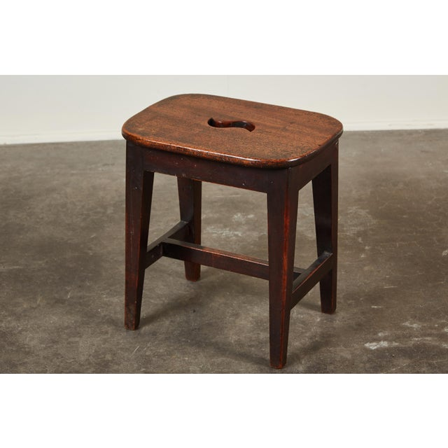 Small 19th Century English Georgian Oak Stool - Image 6 of 6