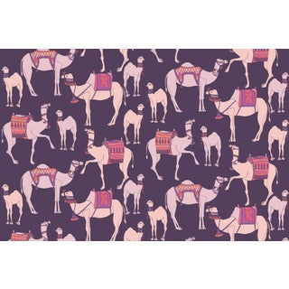 Camels Regal Linen Cotton Fabric, 3 Yards For Sale