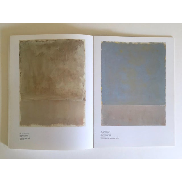 """Mid-Century Modern """" Mark Rothko : Works on Paper """" Vintage 1984 1st Edtn Abstract Expressionist Lithograph Print Exhibition Art Book For Sale - Image 3 of 13"""
