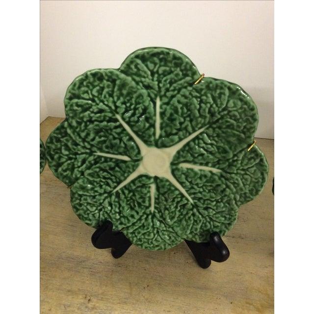 Vintage Portugese Cabbage Plates - Set of 4 - Image 3 of 4