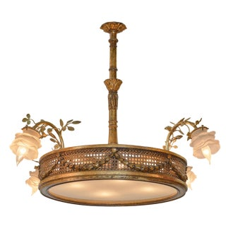 French Art Nouveau Chandelier For Sale