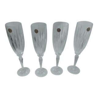 1970s French Champagne Flutes - Set of 4 For Sale