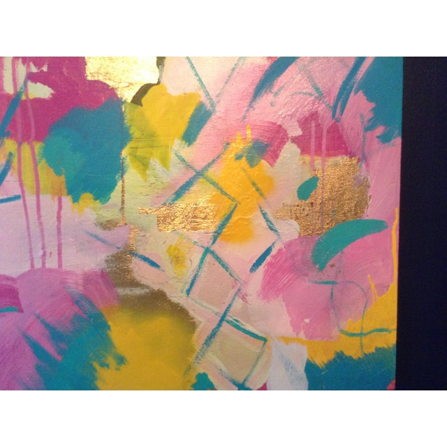 Michelle Chong Abstract Mixed Media on Canvas Pastel Painting For Sale - Image 4 of 9