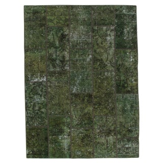 """Pasargad N Y Persian Patch-Work Decorative Hand-Knotted Area Rug - 5' x 6'9"""" For Sale"""