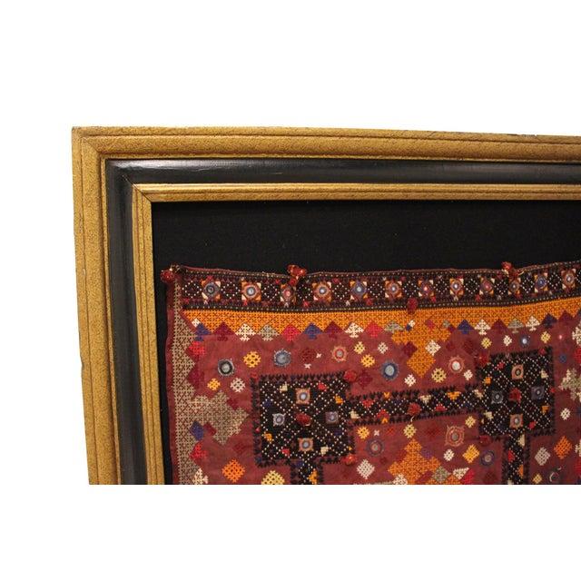 Boho Chic Vintage Middle Eastern Tapestry, Framed For Sale - Image 3 of 4