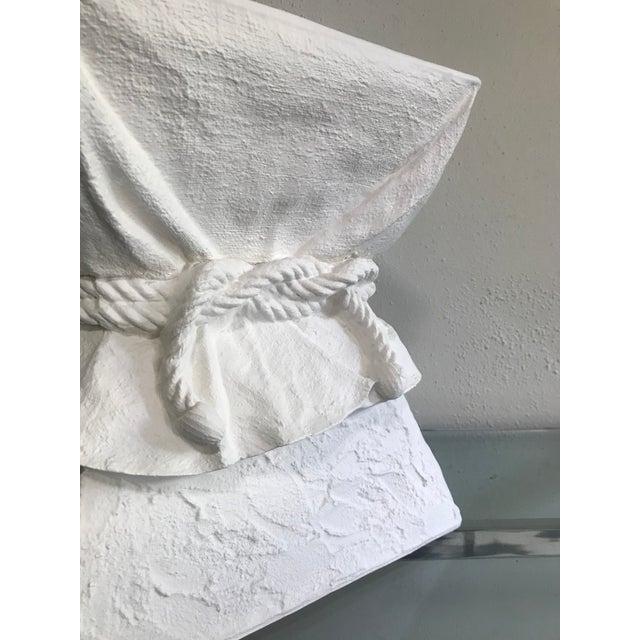 John Dickinson Manner of John Dickinson Tromp L'oeil White Faux Plaster Pedestal Stand For Sale - Image 4 of 5