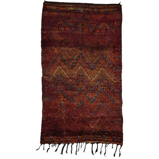 Berber Moroccan Rug in Raspberry -- 5'9 X 9'10 For Sale