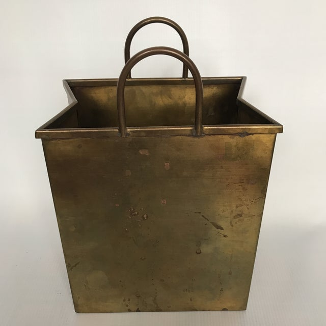 Small Vintage Brass Shopping Bag - Image 4 of 10