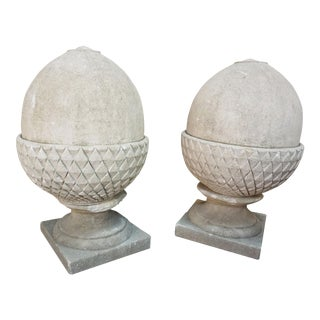 Limestone Acorns - A Pair For Sale