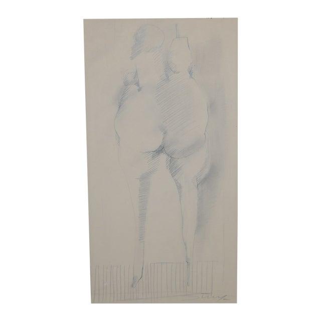 Jan Stussy (1921–1990) Original Nude Study C.1950 For Sale