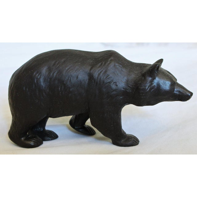 Rustic Early 20th Century Antique Ernest W. Light for Wedgwood Basalt Bear Model For Sale - Image 3 of 7
