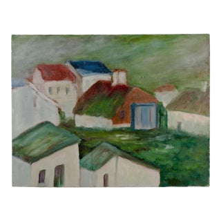 Modernist Village Painting
