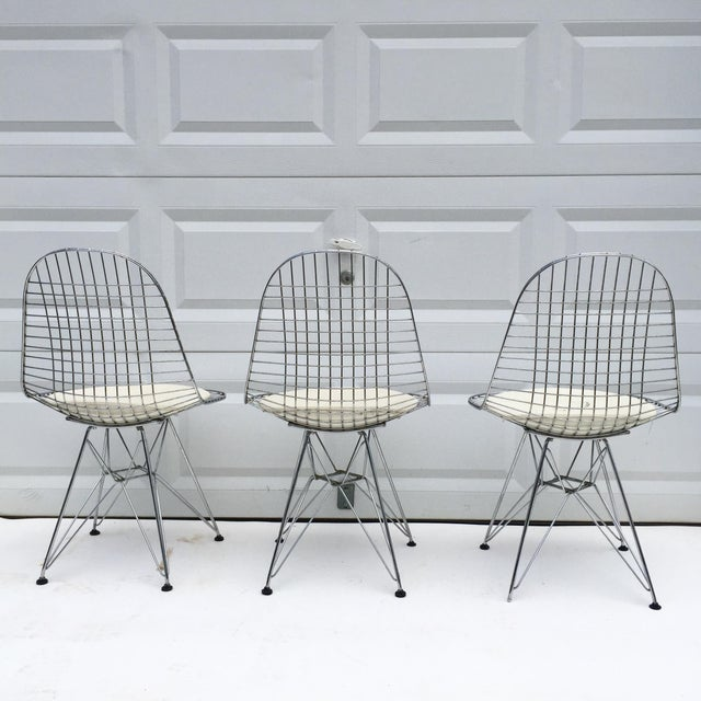 """1970s Mid-Century Modern """"Eiffel"""" Style Chairs - Set of 3 For Sale - Image 5 of 7"""