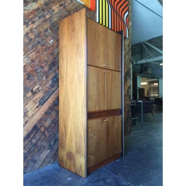 Barzilay Mid-Century Tall 1960s Walnut Cabinet For Sale - Image 5 of 7