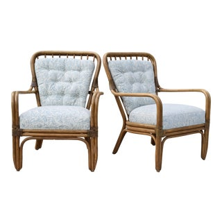 Palecek Large Pole Bent Bamboo Chairs - a Pair