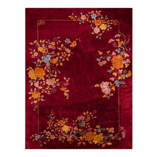 1920s Antique Chinese Art Deco Rug-8′6″ × 11′6″ For Sale