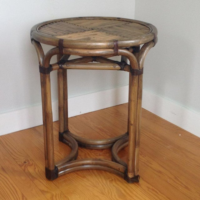 Bentwood & Rattan Side Table - Image 8 of 8