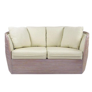 Baker Bombe Rattan Settee For Sale