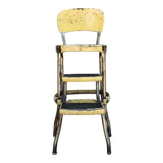Vintage Mid Century Industrial Cosco Metal Step Stool For Sale
