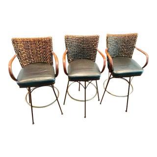 Palecek Havana Metal Barstools - Set of 3