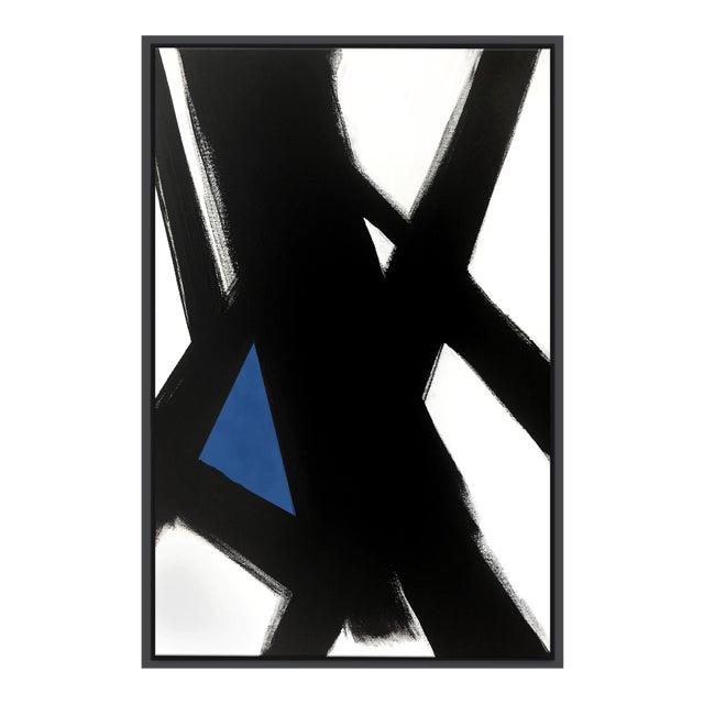 Abstract Black SLash No. 4 - Framed Print 40x60 For Sale