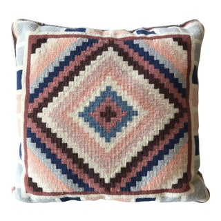 Vintage Cross Stitch Kilim Design Pillow
