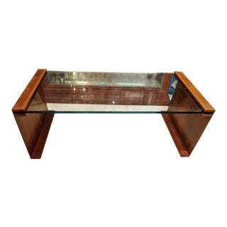 Mid-Century Modern Style Glass & Bronze Coffee Table For Sale