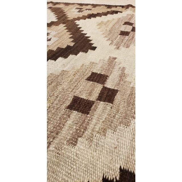 Early 20th Century Early 20th Century Antique Navajo Handmade Wool Rug- 5′ × 6′4″ For Sale - Image 5 of 9