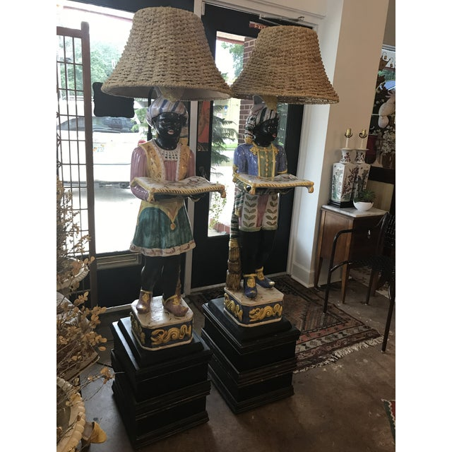 Vintage Blackamoor Floor Lamps - A Pair - Image 2 of 6