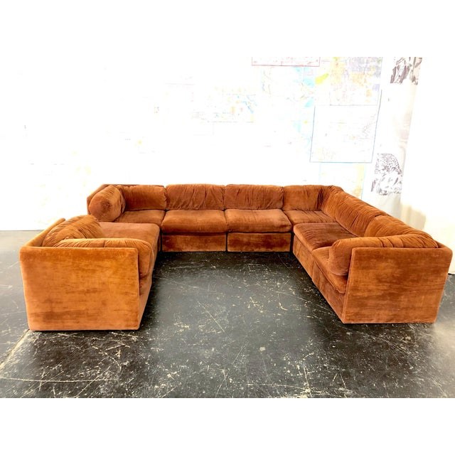 Mid-Century Modern Eight Piece Modular Sofa by Milo Baughman for Thayer Coggin For Sale - Image 3 of 13