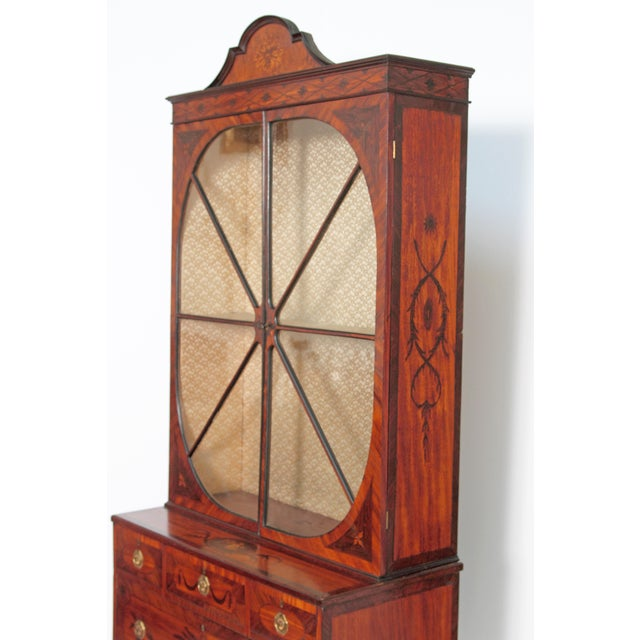 Gillows of Lancaster & London George III Satinwood and Inlaid Bookcase Attributed to Gillows For Sale - Image 4 of 13