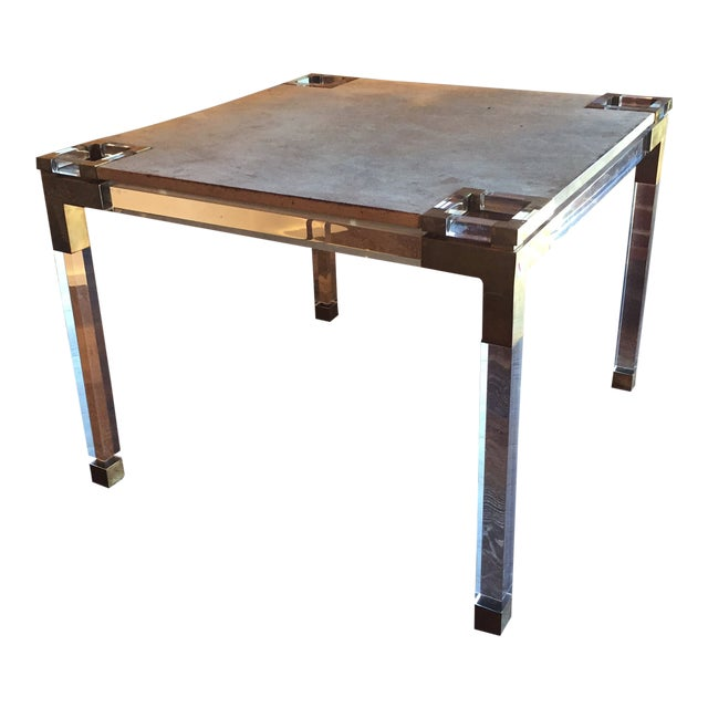 Vintage Lucite Game Table For Sale